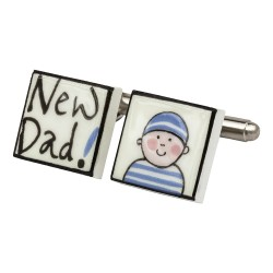 New Dad Bone China Cufflinks