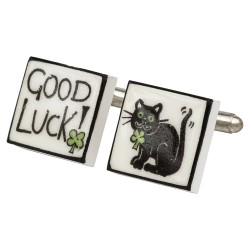 Good Luck! Bone China Cufflinks