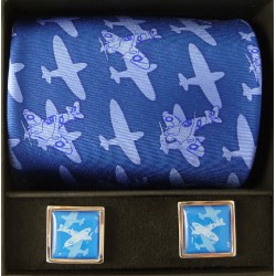Magnificent Spitfires Tie and Cufflinks Boxed Gift Set