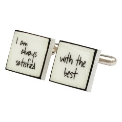 """Always Satisfied"" Bone China Cufflinks"
