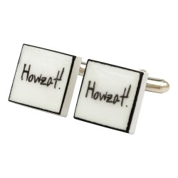 """Howzat!"" Bone China Cufflinks"