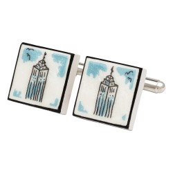 Empire State Building Bone China Cufflinks