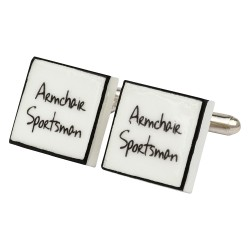 Armchair Sportsman Bone China Cufflinks