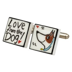 Love From The Dog Bone China Cufflinks