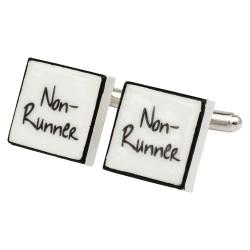 """""""Non-Runner"""" Bone China Cufflinks"""