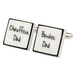 Chauffeur / Banker Dad Bone China Cufflinks