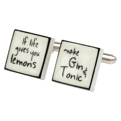 """If Life Gives You Lemons...."" Bone China Cufflinks"