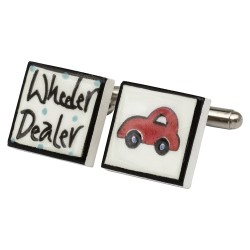 Wheeler Dealer Bone China Cufflinks