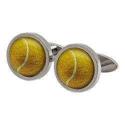 Tennis Ball Cufflinks by Sonia Spencer England