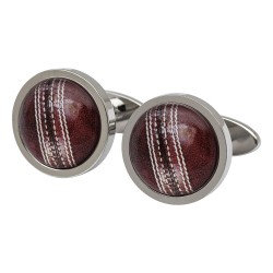 Cricket Ball Cufflinks by Sonia Spencer England