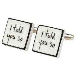 """Naughty But Nice"" Bone China Cufflinks"