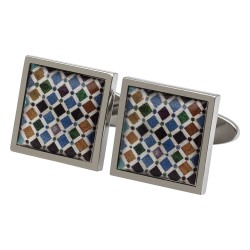 Alhambra Tiles Art Cufflinks