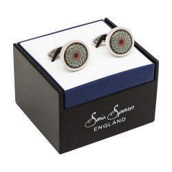 Adam Burnt Orange Fine Art Cufflinks