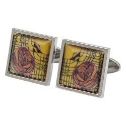 Mackintosh Stylised Rose Cufflinks