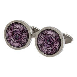 Charles Rennie Mackintosh Rose and Teardrop Cufflinks