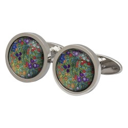 Klimt Flower Garden Fine Art Cufflinks