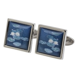 Monet Waterlillies Fine Art Cufflinks