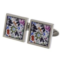 Gaudi Mosaic Fine Art Cufflinks