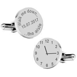 Walk Me Down The Aisle Wedding Cufflinks