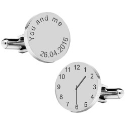 You and Me Special Date and Time Cufflinks