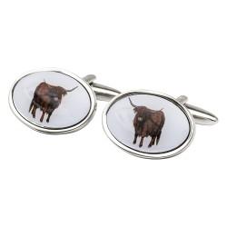 Highland Cow Cufflinks