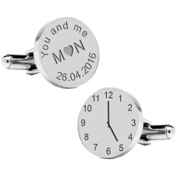 You and Me Special Time Wedding Cufflinks