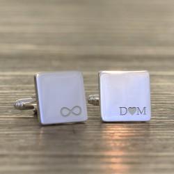 Personalised Infinity Initials Cufflinks