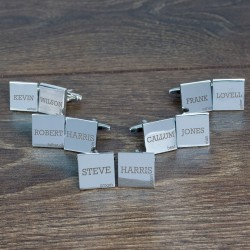 Personalised Wedding Group Cufflinks - Set of 5