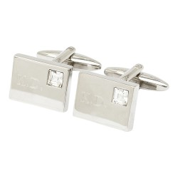 Vianteo Crystal Initial Cufflinks - Engraved Cufflinks