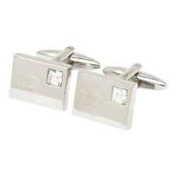 Vianteo Crystal Initial Cufflinks - Engraved Cufflinks
