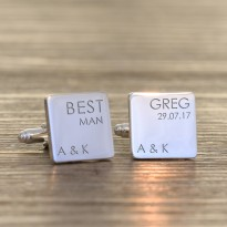 Personalised Wedding Party Role Cufflinks