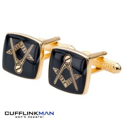 Masonic Gold Cufflinks