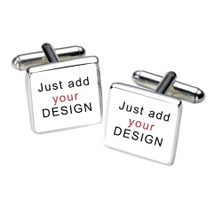 Any Photo or Design Cufflinks- Personalised Square Cufflinks