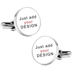 Any Photo or Design Cufflinks- Personalised Round Cufflinks