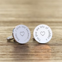 Personalised Daddy I Love You Cufflinks