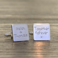Together Forever Personalised Cufflinks