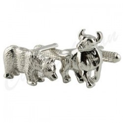 Stock and Shares (Bull and Bears) Cufflinks