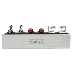 Cricket Cufflinks - 3 Pairs Gift Set - By Onyx-Art