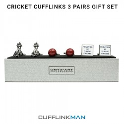 Cricket Cufflinks - 3 Pairs Gift Set - By Onyx-Art
