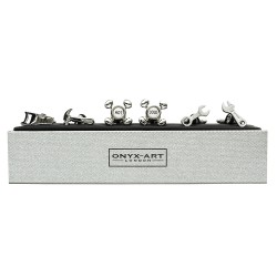Builders Tools Cufflinks 3 Pairs Gift Set