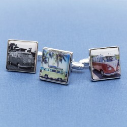 Personalised Campervan Cufflinks - Your Camper Van on Cufflinks