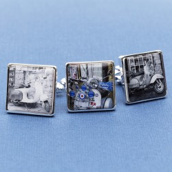 Personalised Scooter Cufflinks - Your Scooter on Cufflinks