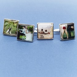 Wedding Photo Cufflinks Personalised - Any Wedding Photo On Cufflinks
