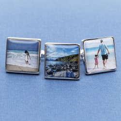 Holiday Photo Cufflinks Personalised - Any Holiday Photo On Cufflinks