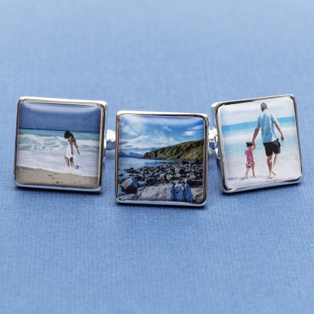 Holiday Photo Cufflinks Personalised - Any Holiday Photo On Cufflinks