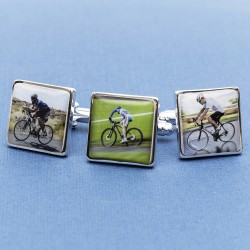 Personalised Cycling Cufflinks - Your Bike on Cufflinks