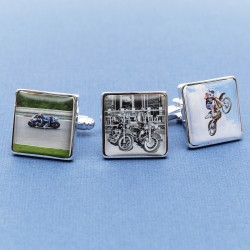 Personalised Motorbike Cufflinks - Your Bike on Cufflinks