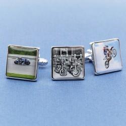Personalised Motorbike Cufflinks - Your Bike on Cufflinks