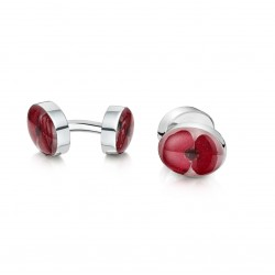 Double Poppy Flower Cufflinks