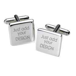 Any Design Engraved Cufflinks- Personalised Square Cufflinks